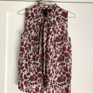 MARC BY MARC JACOBS sleeveless tie silk blouse